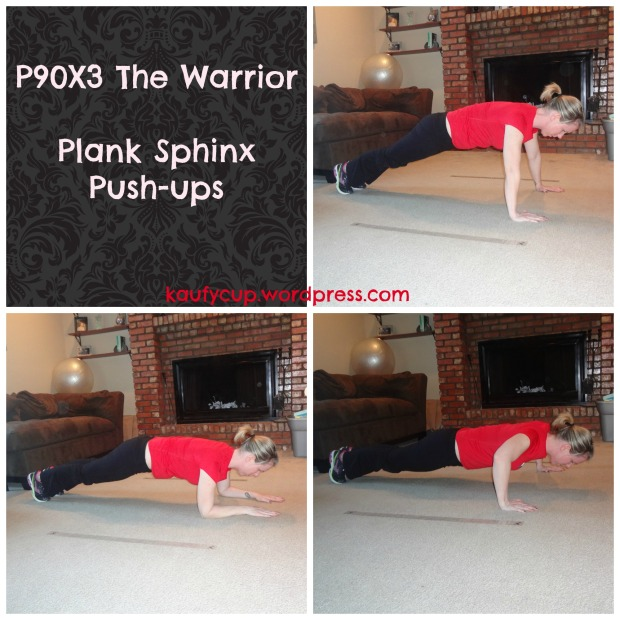 1 plank sphinx pushups