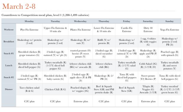 C2C plan March 2-8
