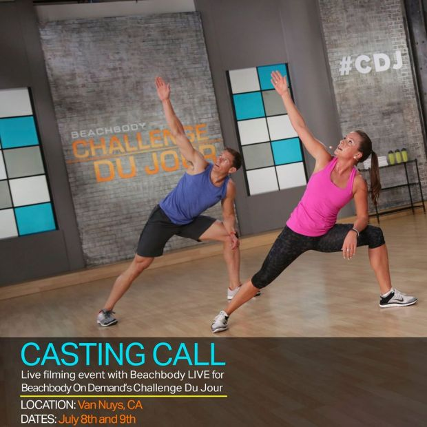 Calling all Beachbody LIVE and Challenge Du Jour fanatics! Whether you're a Beachbody LIVE Instructor, or just love our classes, here's your chance to be cast in an exclusive filming for Beachbody On Demand's Challenge Du Jour (#CDJ)!