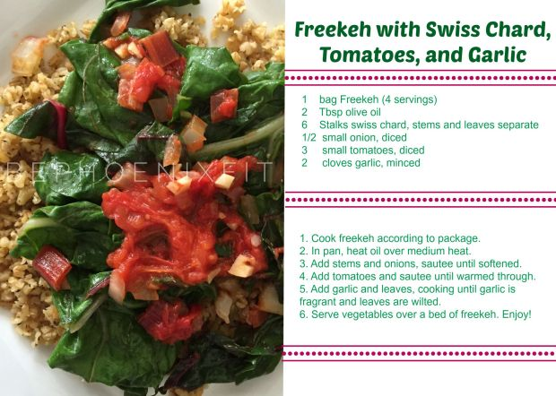 Swiss Chard Recipe card
