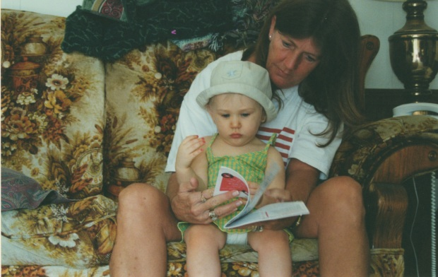 My mom and Hunter, Summer 2002